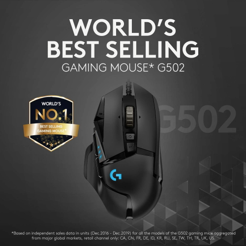 Logitech G502 Worlds Best Selling gaming Mouse